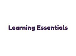 Learning Essentials